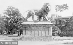 Reading, Maiwand Lion, The Forbury Gardens c.1890