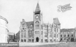 Reading, New Town Hall c.1880