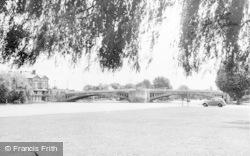 Reading, Promenade And Caversham Bridge c.1955
