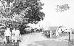 Reculver, Entrance To The Caravan Site c.1955