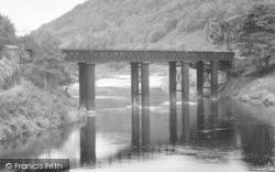Bridge Over The River Wye c.1960, Redbrook