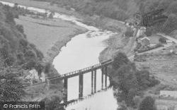 The River Wye And Railway Bridge c.1955, Redbrook