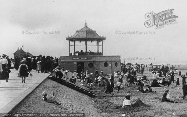 Photo of Redcar, Band Stand And Ladies Lavatory 1906