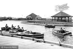 Coatham Enclosure, The Boating Lake c.1955, Redcar