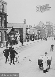 Redcar, Cyclists And An Ice Cream Seller, The Promenade 1913