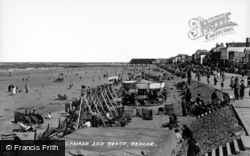 Redcar, Esplanade And Beach c.1950