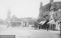 Redcar, High Street And Clock Tower 1913