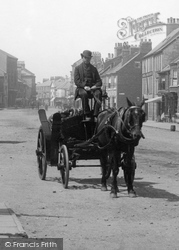 Redcar, Horse And Cart, High Street 1885