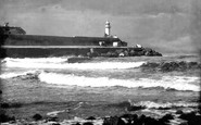 Redcar, Lighthouse at River Tees Mouth 1925