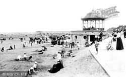 Redcar, Sands And Bandstand 1906