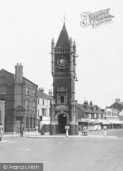 Redcar, The Town Clock c.1950