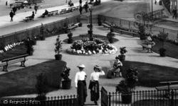 Redcar, Women In A Seafront Garden 1907