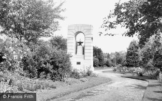 Redditch, Garden of Remembrance c1955