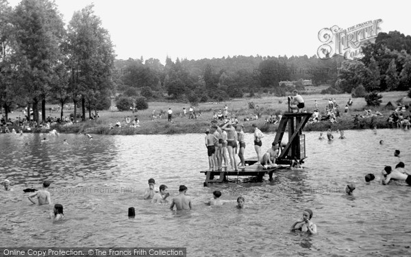 Redhill, the Earlswood Lakes c1955