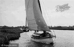 Reedham, Sailing On The River Yare c.1955