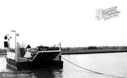 Reedham, The Ferry In Action c.1955