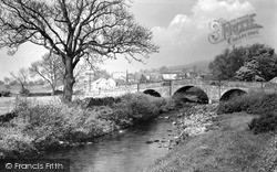 Reeth, Bridge And Town c.1955