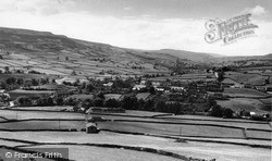 Reeth, From Fremington c.1960