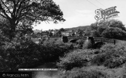Reeth, The River And Bridge c.1960