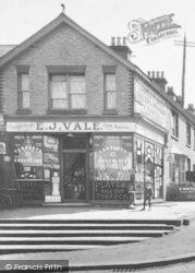 Reigate, 'e J Vale' Stores 1910