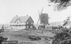 Reigate, Heath, Golf House And Windmill 1896