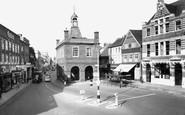Reigate, Old Town Hall and High Street c1960