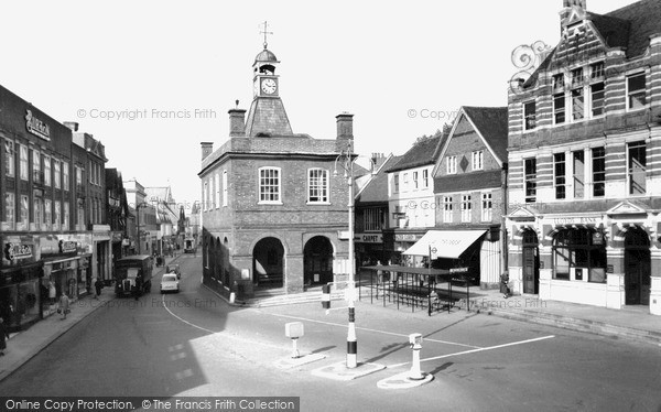 Photo of Reigate, Old Town Hall and High Street c1960