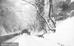 Reigate, Tunnel Road Snow Scene 1890
