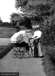 Reigate, Woman And Perambulator 1906