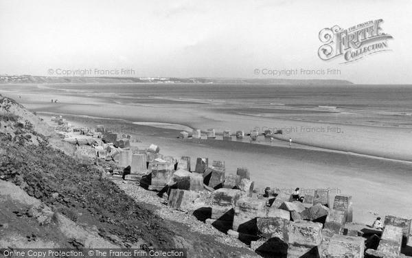 Photo of Reighton, view towards Bridlington c1960
