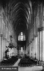 Cathedral, Nave c.1910, Reims