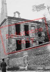 War-Damaged Building c.1930, Reims