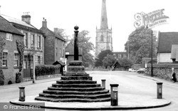 St Wystan's Church And Cross c.1960, Repton