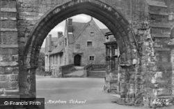 The Arch, Repton School c.1955, Repton