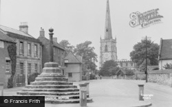 The Cross And St Wystan's Church c.1955, Repton