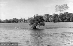 Babworth Hall And Lake c.1955, Retford