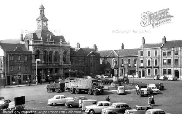 Retford, Market Place c1955