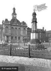 War Memorial And Town Hall c.1955, Retford