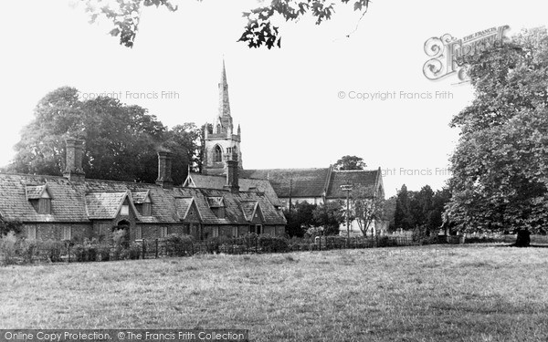 Photo of Revesby, The Green And St Lawrence's Church c.1955
