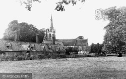 The Green And St Lawrence's Church c.1955, Revesby