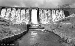 Rhayader, Claerwen Dam c.1955