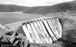 Rhayader, Claerwen Dam c.1960