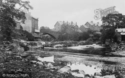 Rhayader, River Wye And The Bridge c.1932