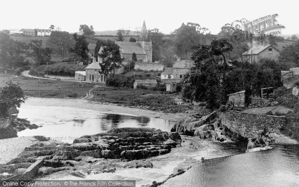 Rhayader, the River Wye c1935