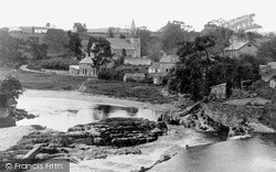 Rhayader, The River Wye c.1932
