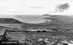 Rhiw, View Of Bardsey Island c.1960