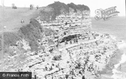Font-Y-Gary, The Cliffs And Beach c.1955 , Rhoose