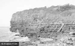 Fontygary Bay And Cliffs c.1955, Rhoose