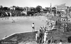 Rhos-on-Sea, Bay Of Colwyn Swimming Pool c.1955