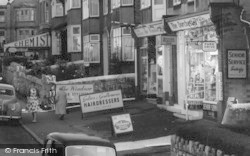 Rhos-on-Sea, Shops In Colwyn Avenue c.1955